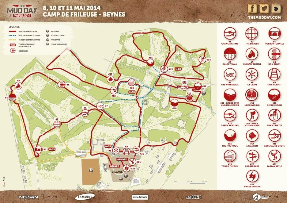 mudday 2014 parcours