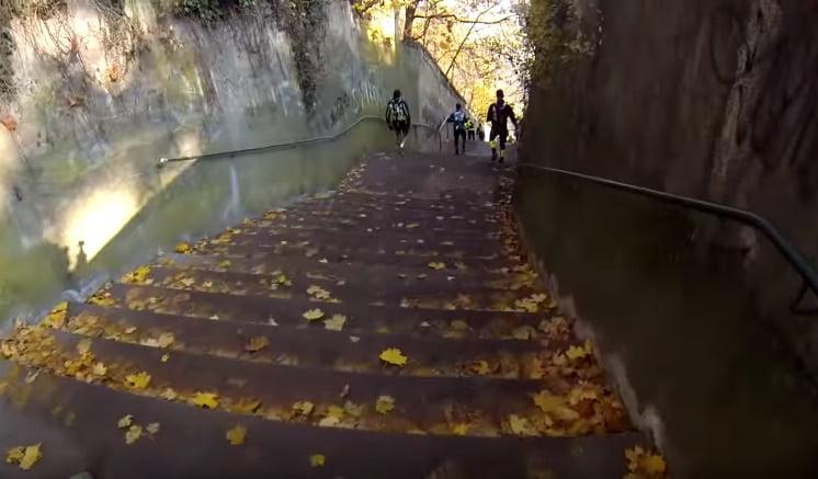 Les 200 escaliers de fin de la Saintélyon