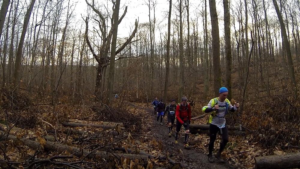 Notre groupe pendant ce long trail