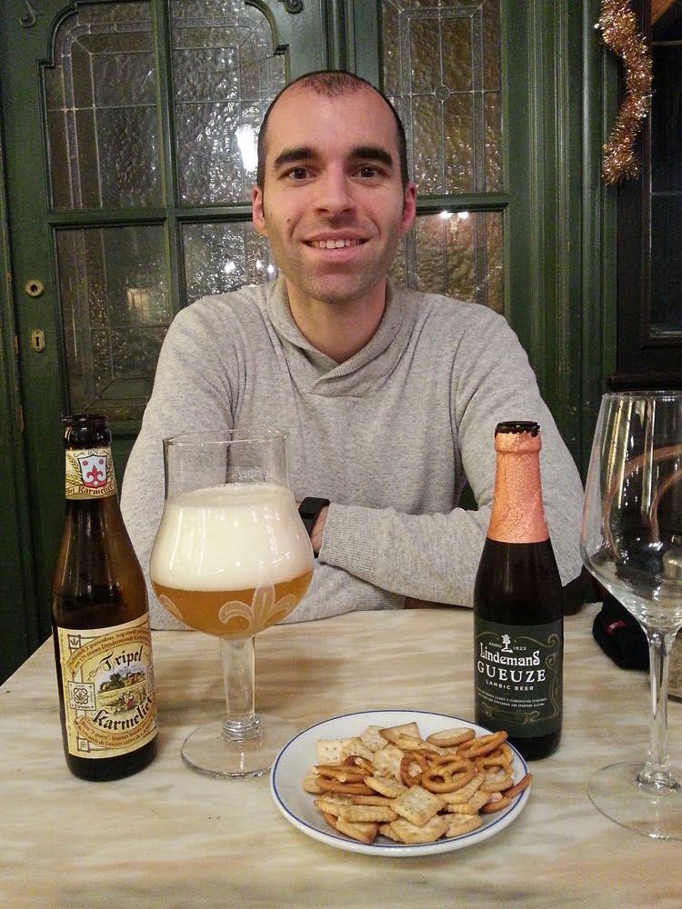 Repas avec de la bière à Bruxelles