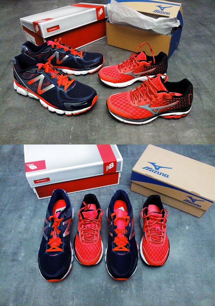 Chaussures neuves pour le marathon
