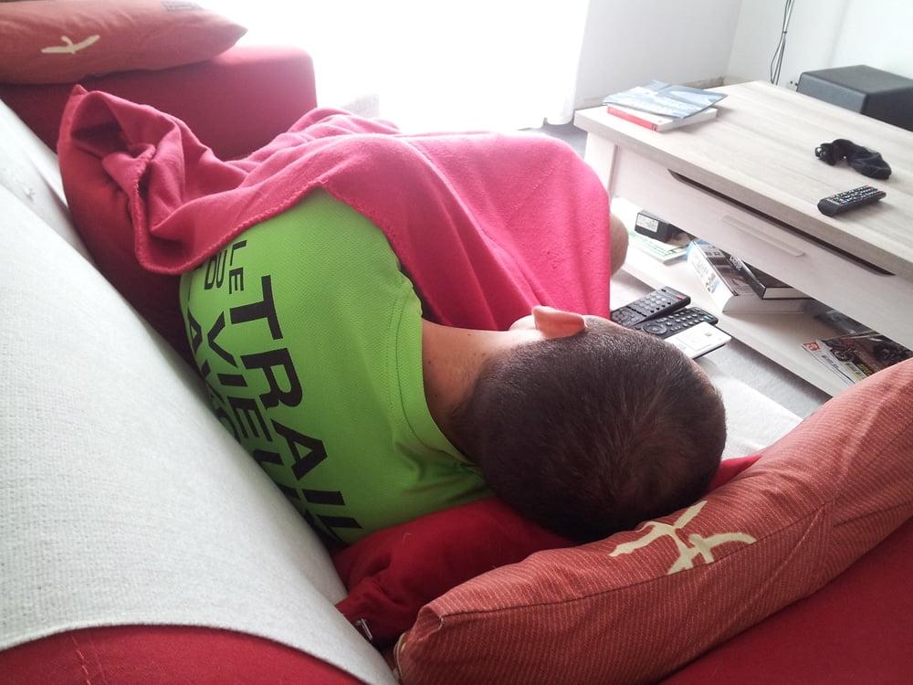 Un marathonien qui dort