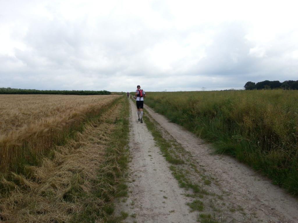 En course pendant ce trail
