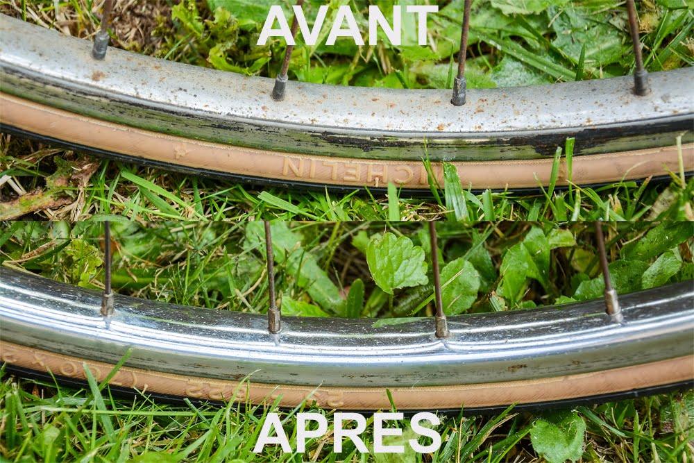 Jantes restaurées pour le vélo