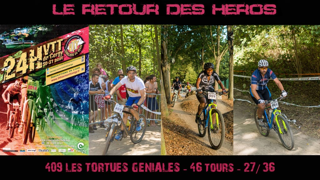 La team Tortues-Runners en VTT aux 24h de Cergy