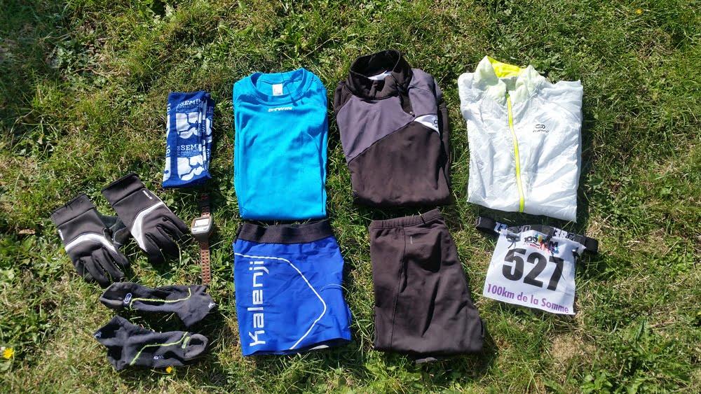 La tenue d'un runner pour une course de 100 kms