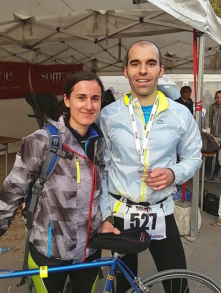 La médaille du coureur à Amiens