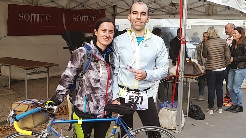 Le duo sur un 100 kms en course à pied