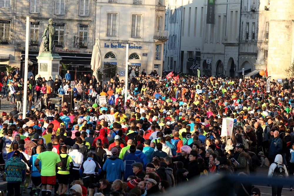 La foule à l'arrivée