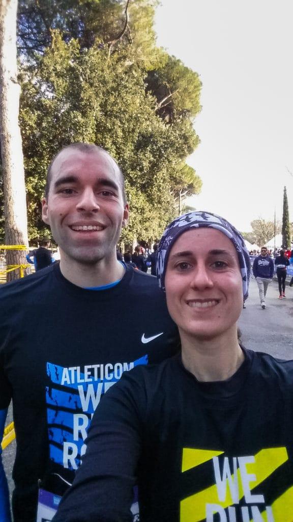 Selfie à l'arrivée des 10kms de ROME