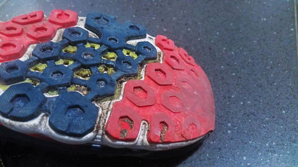 Semelle de chaussure de running usée