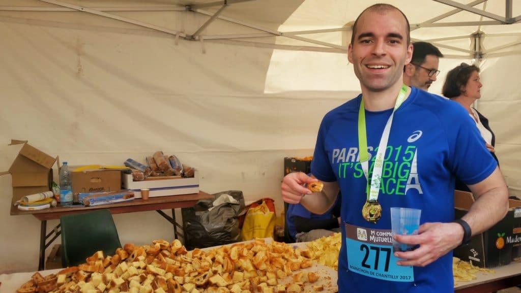 ravito du marathon de Chantilly