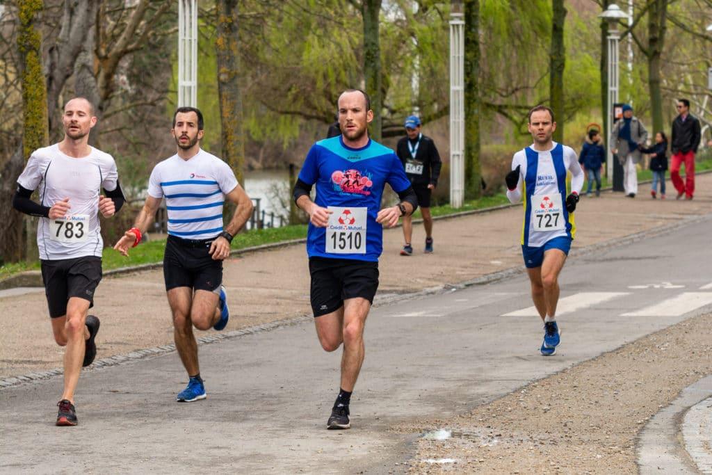Des coureurs lors d'une course sur Paris